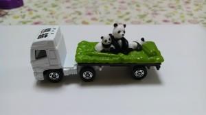 パンダのミニカー